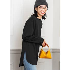 ロングテールカットTシャツ (Black)