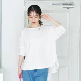 テールカットボートネックTシャツ (White)