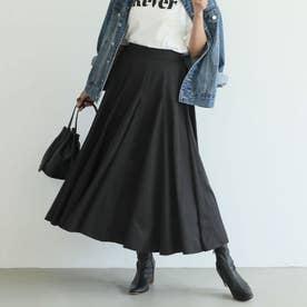 つや感サーキュラーロングスカート (Black)