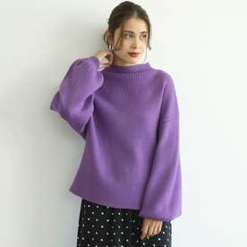プチタートルリブニット (Purple)