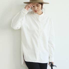 バンドカラーシャツ (White)