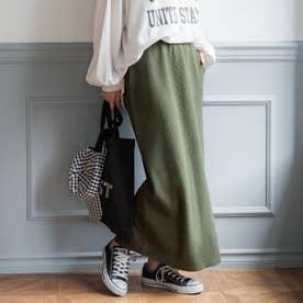 エンボス加工タイトスカート (Khaki)