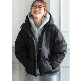 中綿オーバーサイズダウンジャケット (Black)