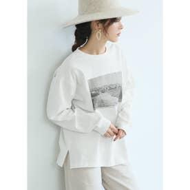 フォトプリントロングTシャツ (White)