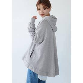 裾フレアパーカー (Gray)