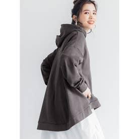裾フレアパーカー (Charcoal)