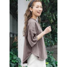 USAコットンテールカットTシャツ (Brown)