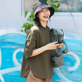 USAコットンテールカットTシャツ (Khaki)