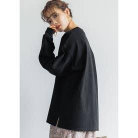 ユニセックスロングTシャツ (Black)