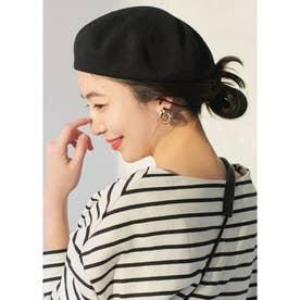 コットンベレー帽 (Black)