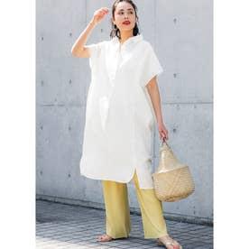 ロング丈オックスシャツ (White)