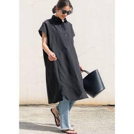 ロング丈オックスシャツ (Black)
