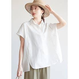 ショート丈オックスシャツ (White)