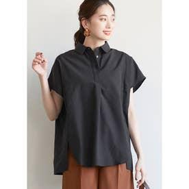 ショート丈オックスシャツ (Black)
