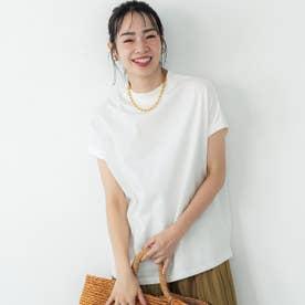 USAコットンモックネックTシャツ (White)