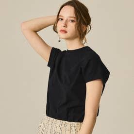 USAコットンモックネックTシャツ (Black)