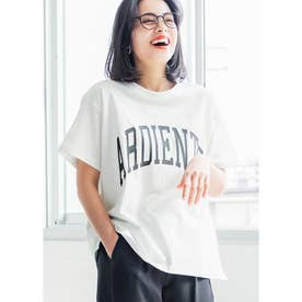 サイドスリットロゴTシャツ (A)