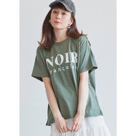 サイドスリットロゴTシャツ (B)