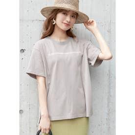 サイドスリットロゴTシャツ (C)