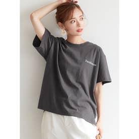 サイドスリットロゴTシャツ (D)