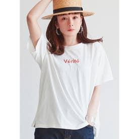 サイドスリットロゴTシャツ (F)