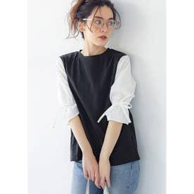 キャンディースリーブシャツドッキングTシャツ (Black)