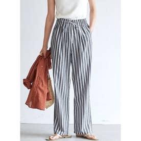 麻調綿ストライプシェフパンツ (Stripe)