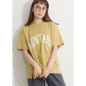 シルキーコットンカレッジプリントTシャツ (Yellow)