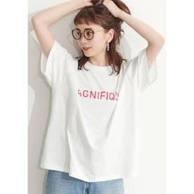 シルキーコットンデザインプリントTシャツ (A)