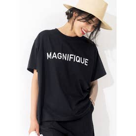 シルキーコットンデザインプリントTシャツ (B)