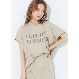 シルキーコットンデザインプリントTシャツ (C)