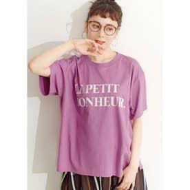 シルキーコットンデザインプリントTシャツ (D)