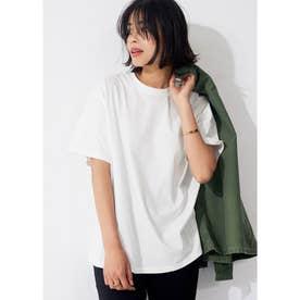 シルキーコットンクルーネックTシャツ (White)
