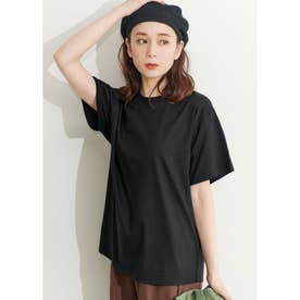 シルキーコットンクルーネックTシャツ (Black)