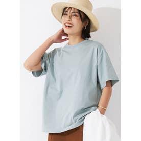 シルキーコットンクルーネックTシャツ (Blue)