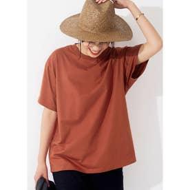 シルキーコットンクルーネックTシャツ (Orange)