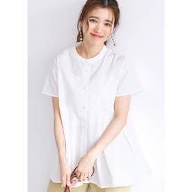 ウエストタックボタンシャツ (White)