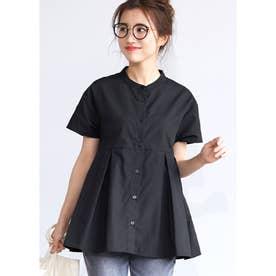 ウエストタックボタンシャツ (Black)