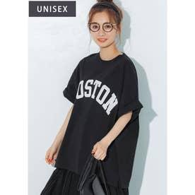 カレッジアソートプリントTシャツ (Black)