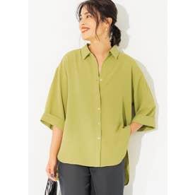 七分袖とろみルーズシャツ (Green)