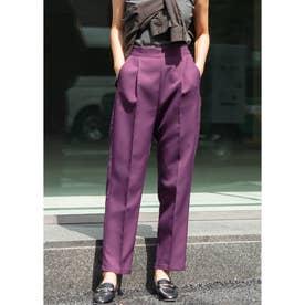 センタープレステーパードパンツ (Purple)