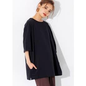ポケット付きチュニックTシャツ (Black)