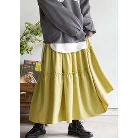 裾フレアティアードスカート (Yellow)