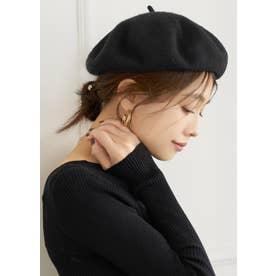 ベレー帽 (Black)