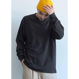 シルキーコットンロングTシャツ (Black)