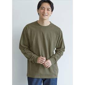 シルキーコットンロングTシャツ (Khaki)
