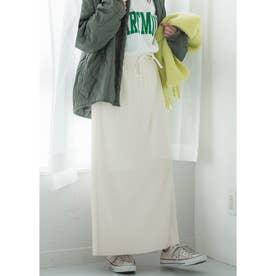 厚手リブニットスカート (Ivory)