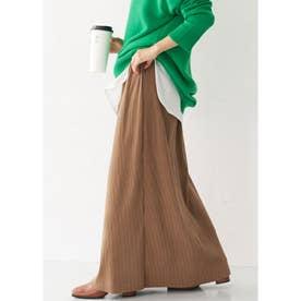 厚手リブニットスカート (Camel)