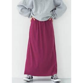 厚手リブニットスカート (Pink)