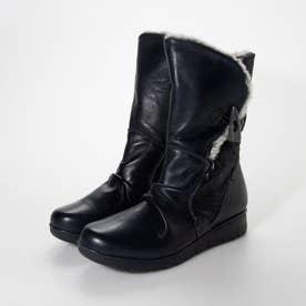 歩行時の衝撃を和らげる踏み心地の良い 軽量ラバーソール カジュアルブーツ  COM15504 (ネイビー)